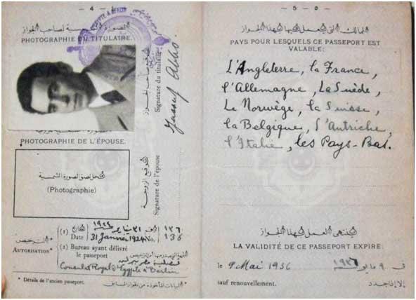 Il passaporto egiziano di Jussuf Abbo