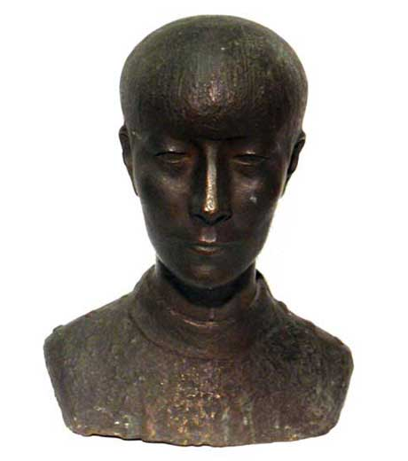 Male bust in bronze by Jussuf Abbo