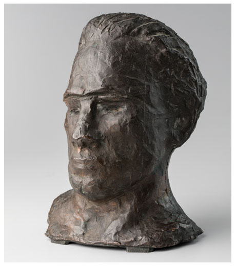Self-portrait in bronze by Jussuf Abbo